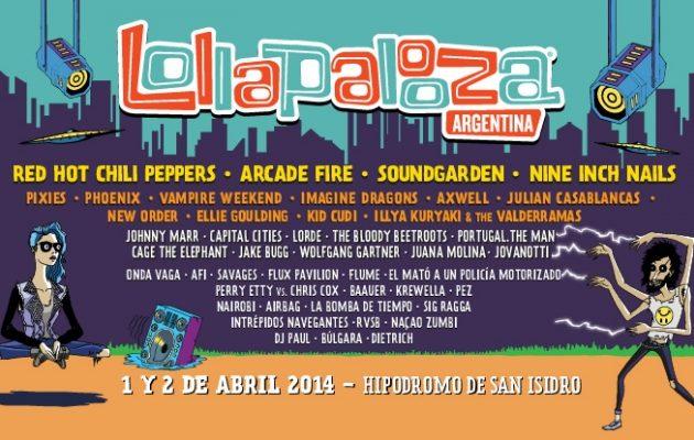 Lineup Lollapalooza Argentina 2014