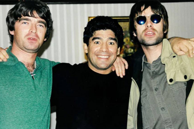 Liam Gallagher y Diego Maradona