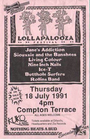 Entrada al Lollapalooza 1991
