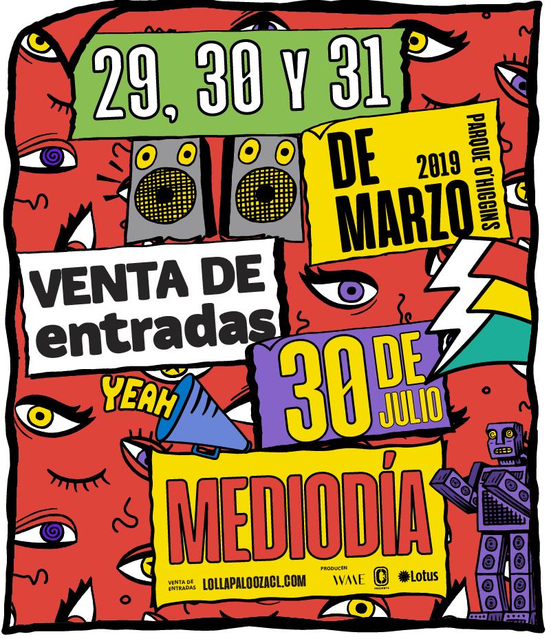 Lollapalooza Chile anuncia una nueva edición en 2019