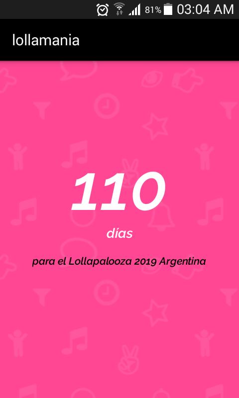 App del Lollapalooza Argentina 2019