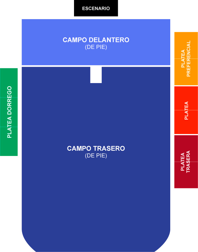 Plano de ubicaciones de show de Paul McCartney