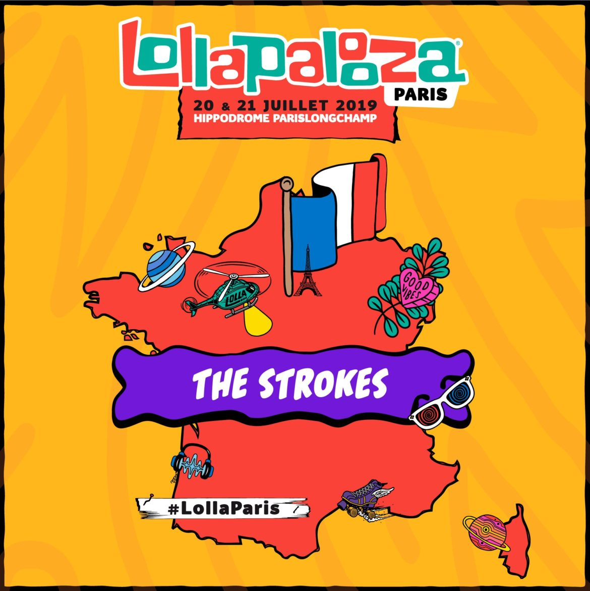 The Strokes en el Lollapalooza París 2019