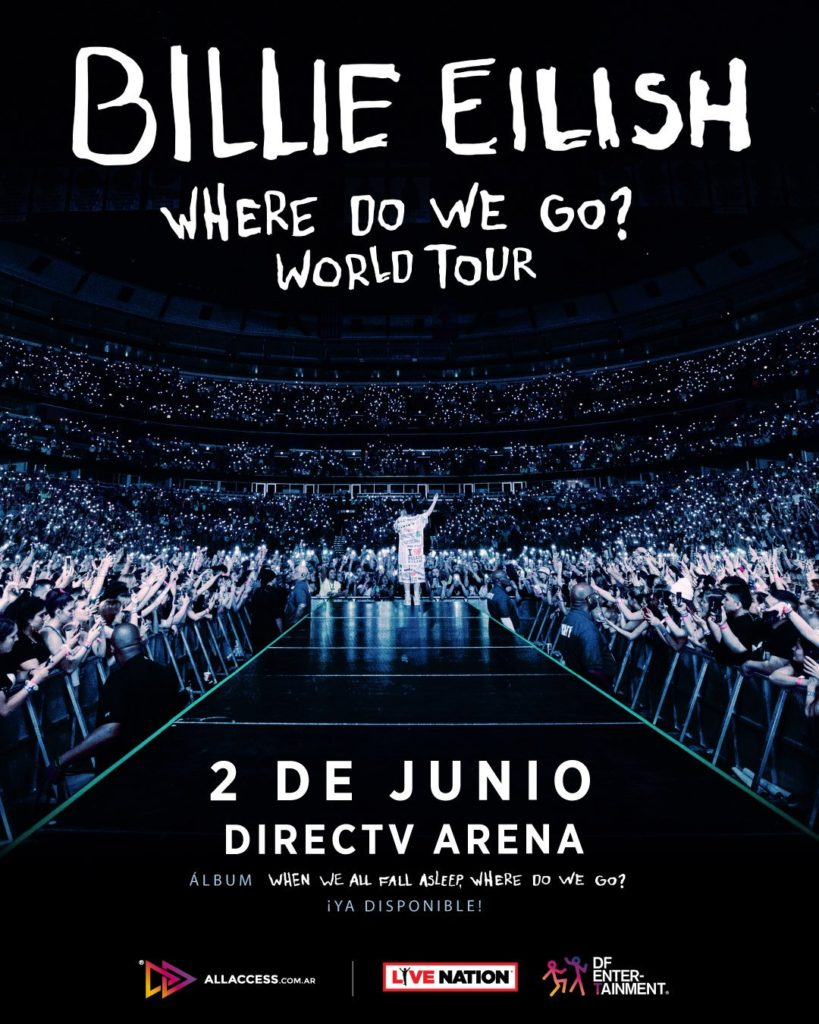 Billie Eilish en Argentina en junio de 2020